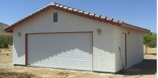 Picture of a stucco garage concept
